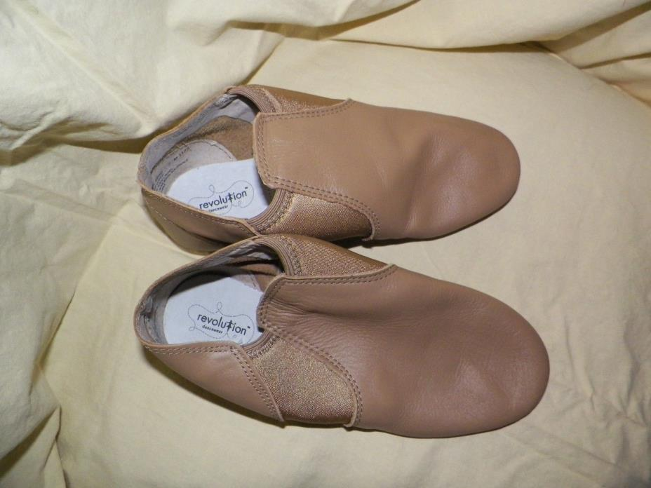 Revolution Tan Leather split sole dance 9 M