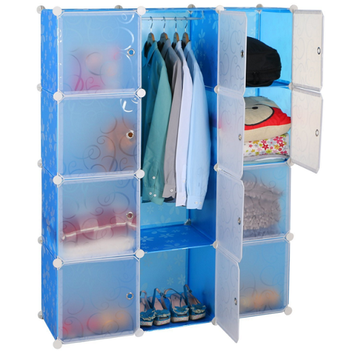 Wardrobe Closets For Bedroom Portable Plastic Cabinet Storage Organizer Pantry