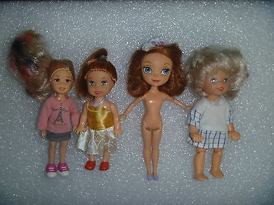 4 Different Kelly Size Dolls Age & Dates Unknown 3 are Dressed Ty, Winx?