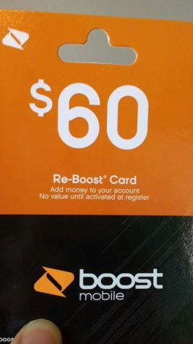 Boost Mobile $60 Refill Card