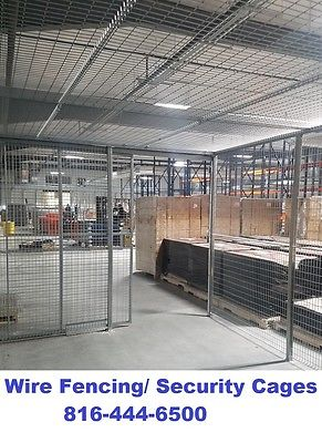 wire fencing fence metal security cage wires partition with doors, roofs CHEAP