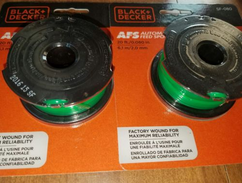 2) BLACK & DECKER AUTOMATIC FEED SPOOL SF-080 20FT/.080in FITS GH3000