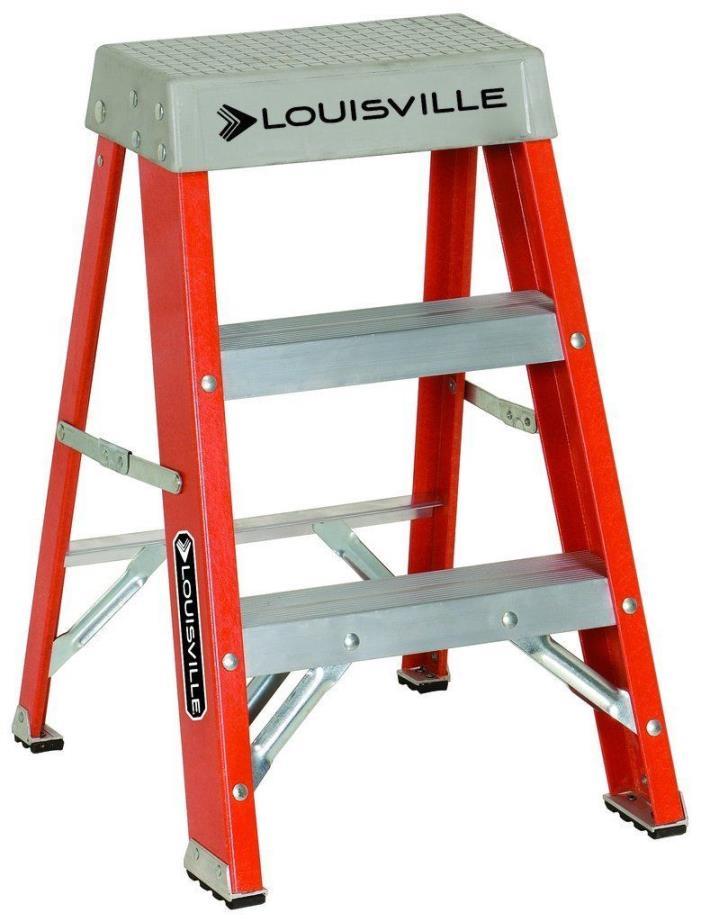 300 Lbs Duty Rating Fiberglass Ladder 2 Foot Safety Heavy Duty Stepladder