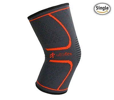 Ultra Flex Athletics Knee Compression Sleeve Single Wrap Medium Orthotics Braces