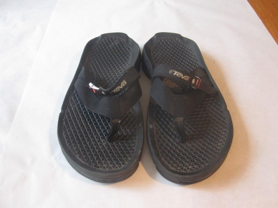 Teva Men's Flip Flops. Sz.8. Black. Heavy Duty