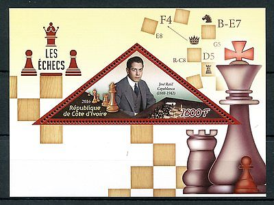 Ivory Coast 2016 MNH Chess Jose Raul Capablanca 1v S/S Sports Stamps