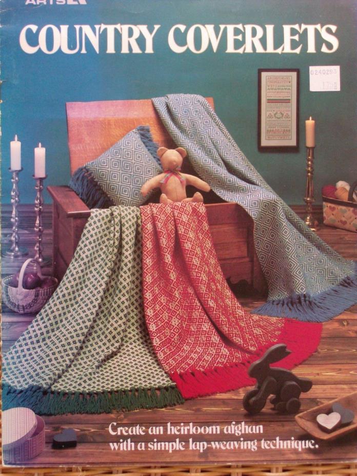 Country Coverlets heirloom afghan lap weaving Leisure Arts blankets
