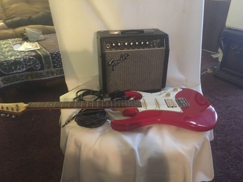 Ibanez Guitar With Fender Amp