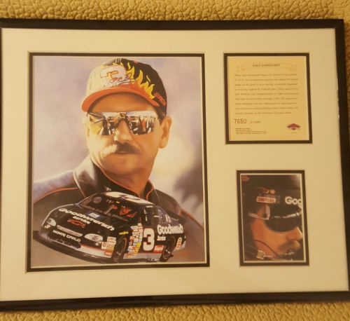 1997 Dale Earnhardt Lithograph Print, Matted and Framed