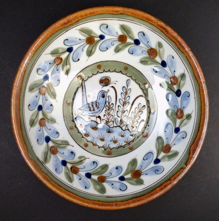Vintage Ken Edwards Tonala El Palomar Mexico Decorative Bowl 8 1/8