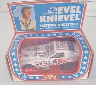 IDEAL 1976 EVEL KNIEVEL DIE-CAST METAL FUNNY CAR
