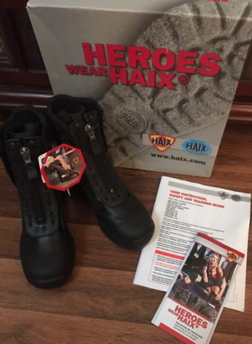 NEW HAIX Airpower R1 Womens 7.5 Wide Boots Tactical EMS Station Black