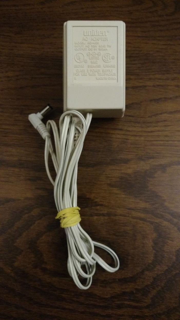 UNIDEN AD-420 AC Power Supply Adapter DC 9V 350mA White