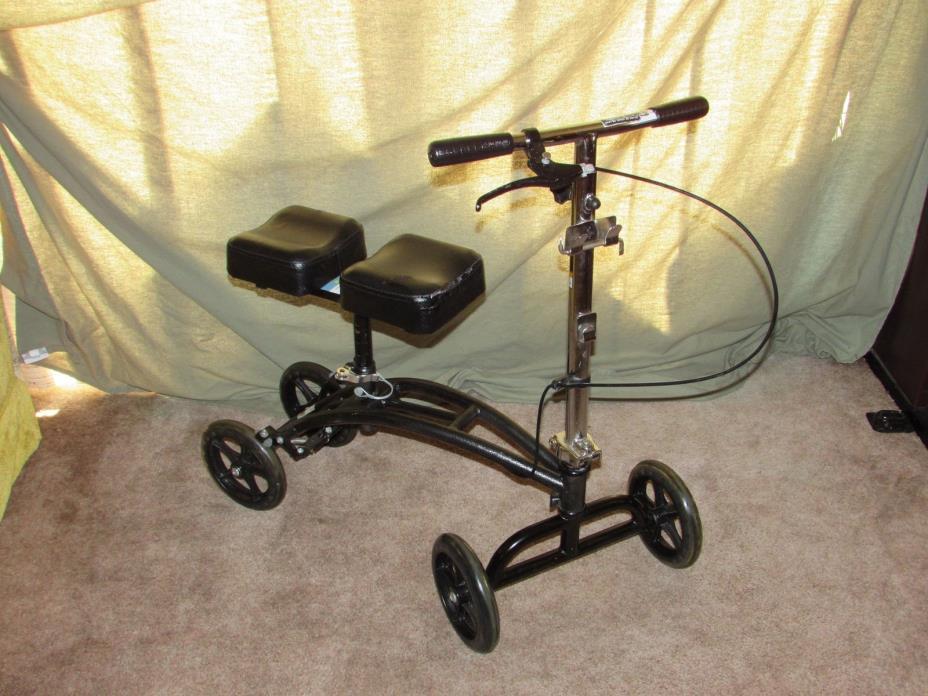 Drive 790 Medical Steel Knee Walker Crutch Eliminator 4 Wheel Steerable / Brakes