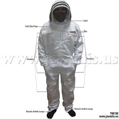 4XL Jawadis White Cheap Bee Suits for Sale Pest Control Honey Suits & Carry Case