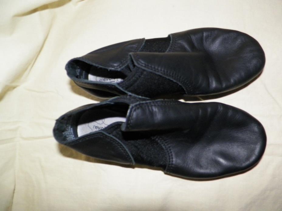 Revolution Black Leather split sole dance 3 M