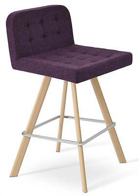 Contemporary Bar Stool in Deep Maroon [ID 3504550]