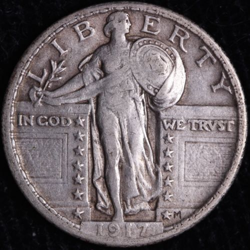 XF 1917 Type 2 Standing Liberty Quarter R3THM
