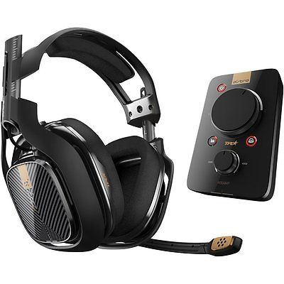 NEW A40 TR Headset + MixAmp Pro TR Astro PS4 Playstation 4 Windows Mac PS3 Black