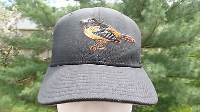 VTG. BALTIMORE ORIOLES NEW ERA FITTED SIZE 7 HAT 100% WOOL MADE IN USA