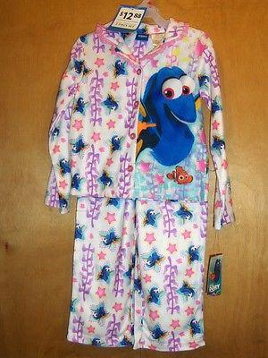 Girls Disney Pixar Finding Dory Pajama Set   Size S (6/6X)