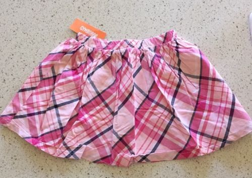Gymboree Girls Plaid Lined Skirt Size 7 NWT