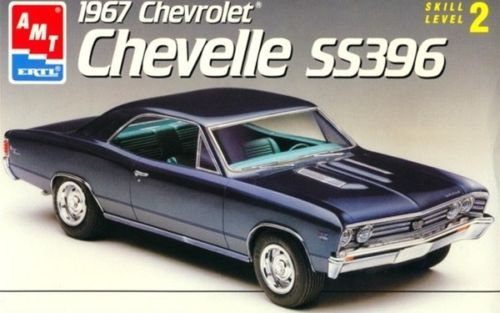 1967 Chevelle SS 1/24 Unpainted Slot Car Body with and all trim and glass