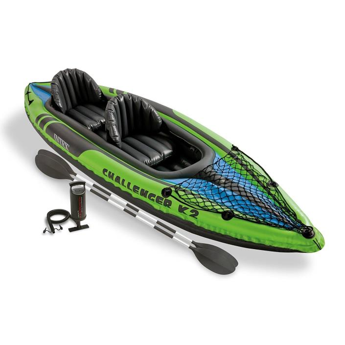 2 Person Inflatable Kayak Set Boat Raft Fishing River Lake Sea Pump 2 Paddle Oar