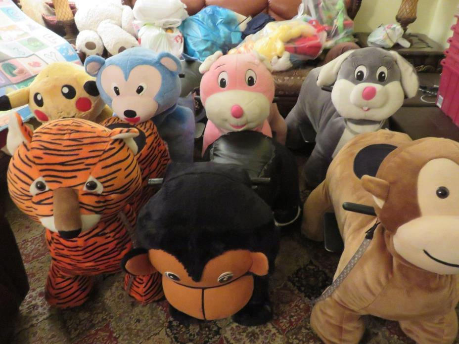 Electric operated plush animal scooters (Lot of 10)