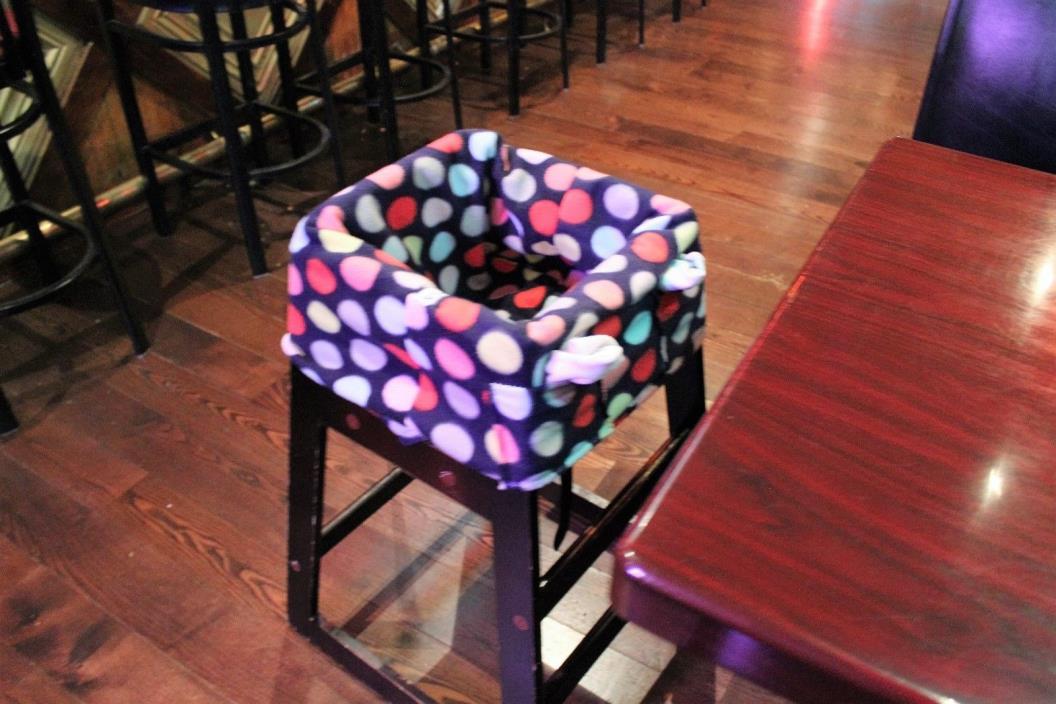 Cozy high chair shopping cart cover fleece baby restaurant custom polka dot