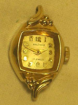vintage Waltham 17 Jewels wind up watch wristwatch works * parts / repair