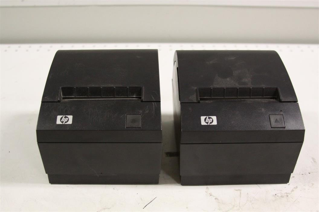 Lot of 2 HP A799 A799-C40W-HN00 P.O.S POINT OF SALE THERMAL PRINTER