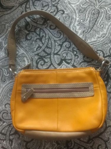 St John's Bay Soft Leather Baguette Style Purse - Tangerine Color