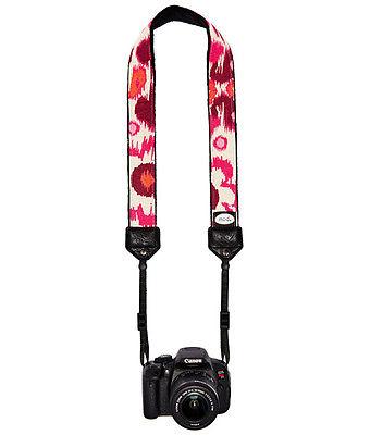 Rosy Ikat Classic Camera Strap
