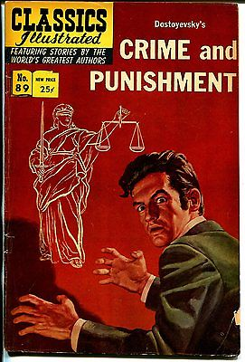 Classics Illustrated #89 1966-Gilberton-Crime & Punishment-HRN 167-FN
