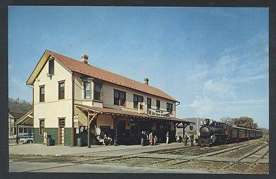 Station Rockhill Furnace Pennsylvania East Broad Top Railroad Train Postcard