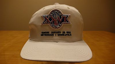 VTG. 1992 SUPER BOWL XXVI REDSKINS VS BILL SNAPBACK HAT