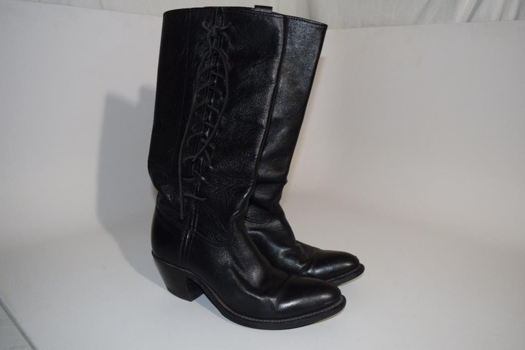 Women's Vintage Harley-Davidson Side Lace Western Boots sz 8 stk# 8611 US Made