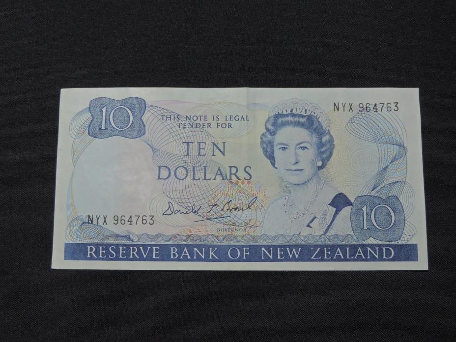 $10 RESERVE BANK OF NEW ZEALAND BANK NOTE NYX 964763 TEN DOLLARS EF CONDITION