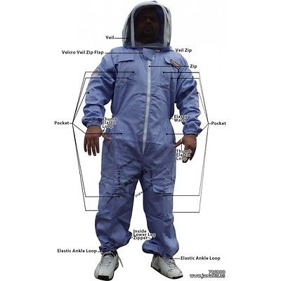 2XL Jawadis Purple BeeKeepers Beekeeping Pest Control Bee Suit & FREE Carry Case
