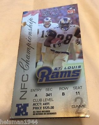 2000 - 2001 EAGLES @ RAMS  NFC CHAMPIONSHIP TICKET STUB -RARE - SUPER BOWL YEAR