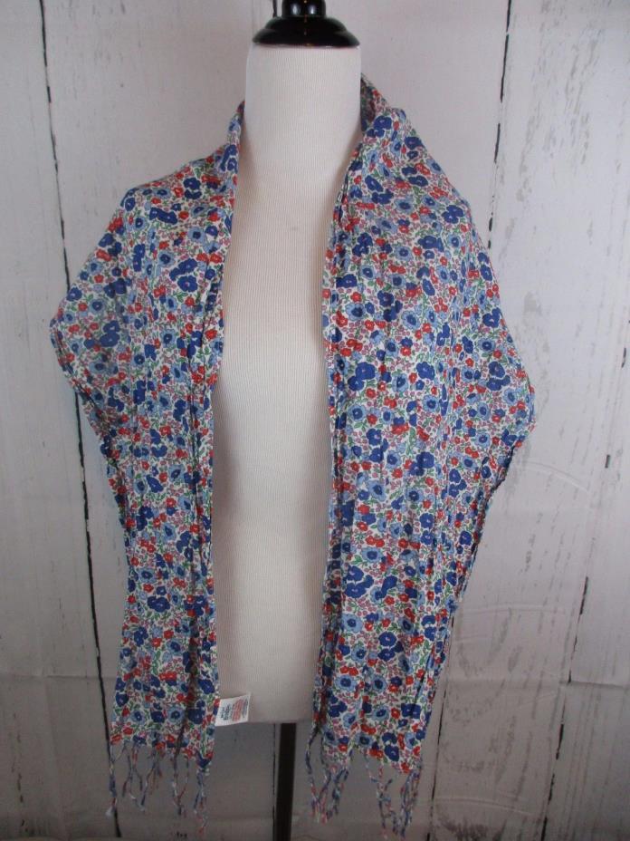 Mini Boden Girls Floral Cotton Scarf