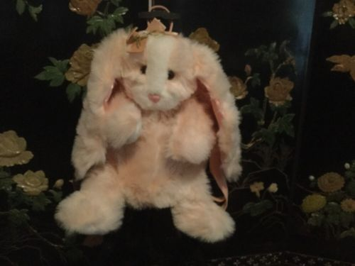 Cute- Girls -Plush Cuddly Soft- Stuffed Animal Bunny Backpack. Adorable!