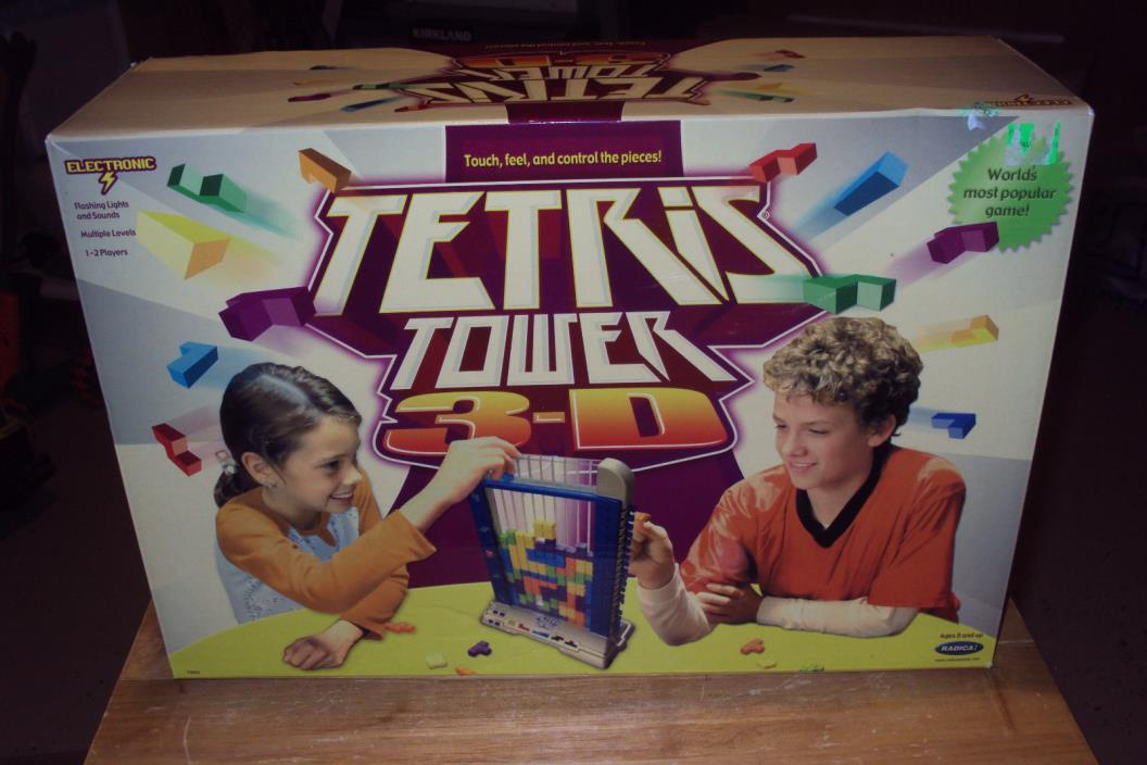 Tetris Tower 3-D Electronic Game * 2003 Radica *