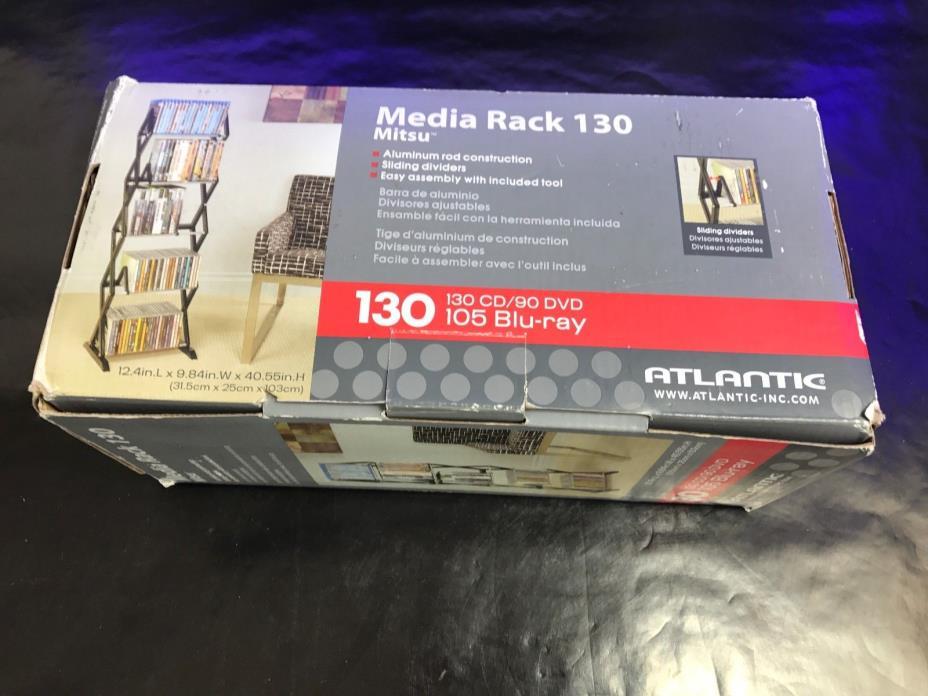 Atlantic Mitsu 130 CD/90 DVD/BluRay/Games 5-Tier Media Rack Smoke Atlantic