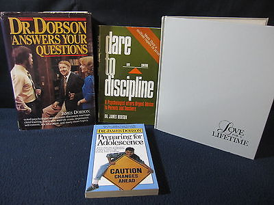 James Dobson: Set of 5 Books incl. Dare to Discipline - Incl. Shipping!!