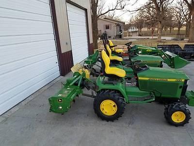 John Deere 455 diesel YANMAR garden tractor 3pt, rear PTO, AG tires, low hours