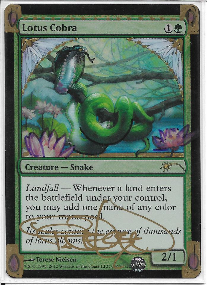 MTG 1x Foil signed/altered Lotus Cobra GP Promo Terese Nielsen