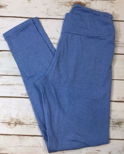 Lularoe Heather Blue Leggings OS One Size Womens