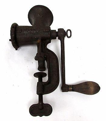 Antique Enterprise Tinned No.5 Cast Iron Meat Grinder/Food Crank Chopper